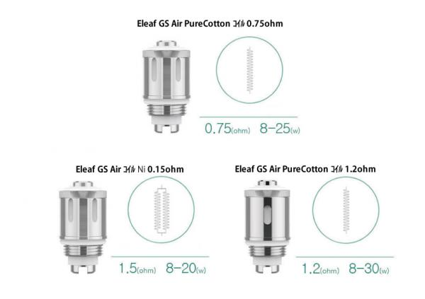 GS Air PureCotton コイル0.75ohm 5pcs